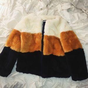 Sweaters - Faux Fur Jacket